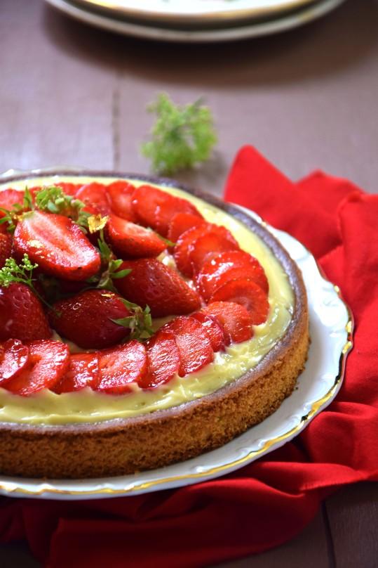 sablé-fraise-verveine