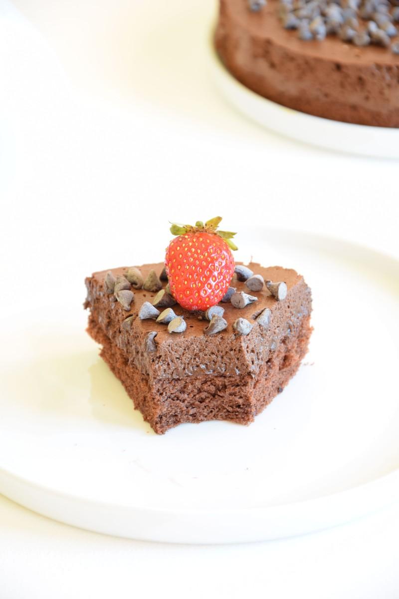 Gâteau nuage de chocolat {Sans gluten-Sans lactose}