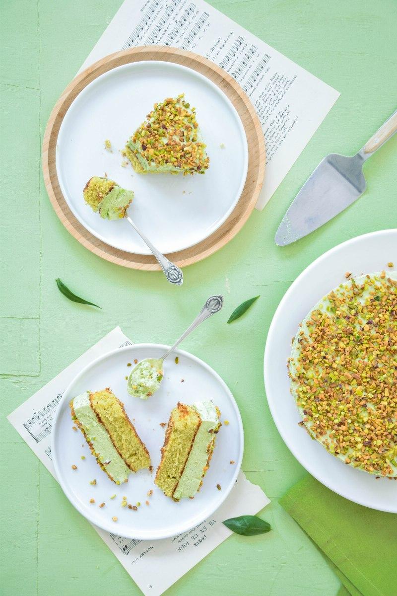 Gâteau nuage de pistache